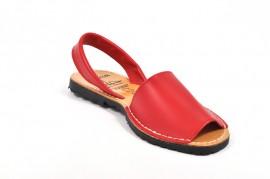 Sandale rosii Avarca, din piele naturala