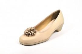 Pantofi bej Amelie, din piele naturala