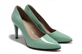 Pantofi lac bleu din piele naturala M Shoes