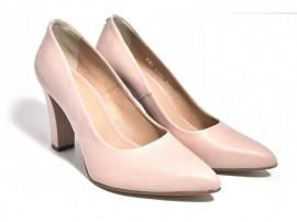 Pantofi roz din piele naturala M Shoes