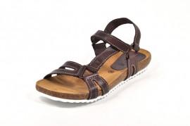 Sandale maro inchis Morxiva, din piele naturala