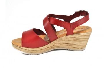 Sandale rosii Tristan, din piele naturala