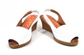 Sandale albe Xusandalia din piele naturala