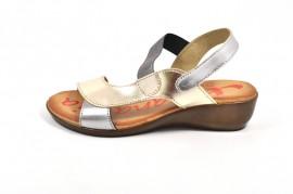 Sandale aurii Xusandalia din piele naturala