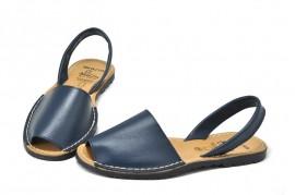 Sandale Avarca albastru inchis, din piele naturala
