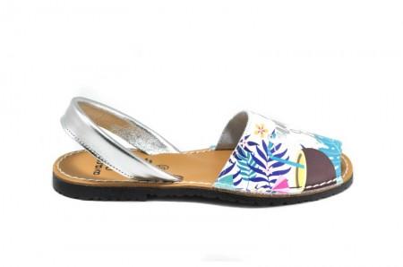 Sandale Avarca Vibes Gri, din piele naturala