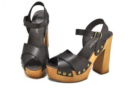 Sandale maro inchis piele naturala Iria