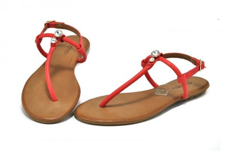 Sandale rosii piele naturala Berta