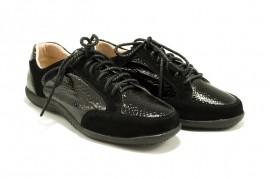 Pantofi negri din piele naturala Loris