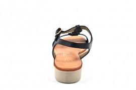 Sandale albastru inchis In shoes, din piele naturala
