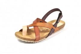 Sandale maro Morxiva, din piele naturala