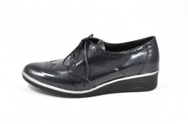 Pantofi negri Jovisa, din piele naturala