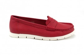 Pantofi rosii din piele naturala Clare