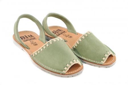 Sandale Avarca Lexie green, piele naturala