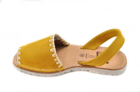 Sandale Avarca Lexie yellow, piele naturala