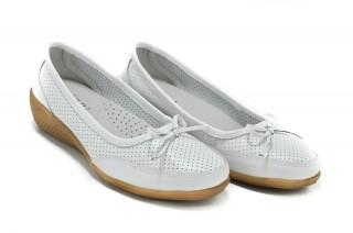 Pantofi albi din piele naturala Kate