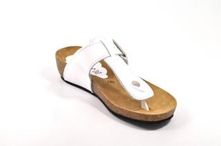 Sandale albe Morxiva, din piele naturala