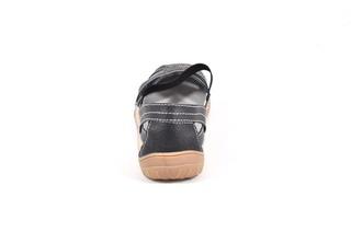 Sandale negre din piele naturala TOPWAY