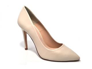 Pantofi crem din piele naturala Ehya