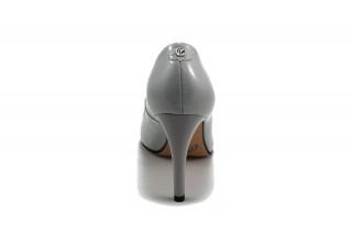 Pantofi lac gri din piele naturala