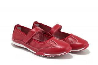 Pantofi rosii din piele naturala
