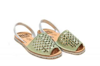 Sandale Avarca Erin green, piele naturala