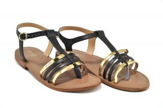 Sandale negre piele naturala Tina