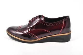 Pantofi bordeaux Jovisa, din piele naturala