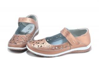 Pantofi casual roz din piele naturala Zina