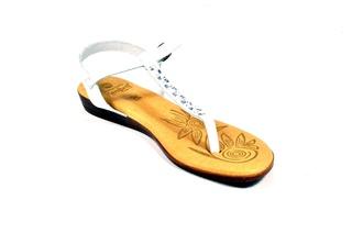 Sandale albe Hembra din piele naturala