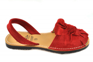 Sandale Avarca Gia rosii, piele naturala
