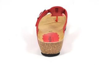 Sandale rosii Morxiva, din piele naturala