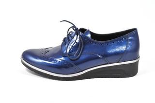 Pantofi albastri Jovisa, din piele naturala