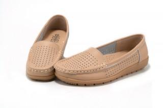 Pantofi bej din piele naturala TOPWAY