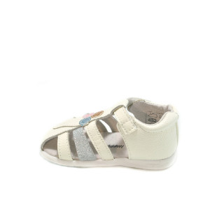 Sandale albe Happy Bee Cfs16