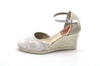 Sandale albe Maria Victoria