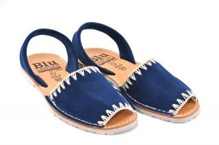 Sandale Avarca Lexie navy, piele naturala