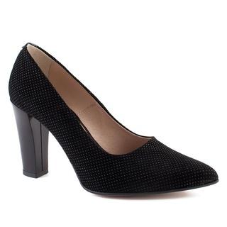 Pantofi negri din piele naturala M Shoes