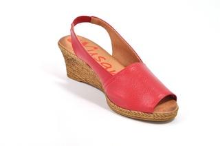 Sandale rosii Xusandalia din piele naturala