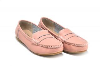 Pantofi casual roz din piele naturala Debra