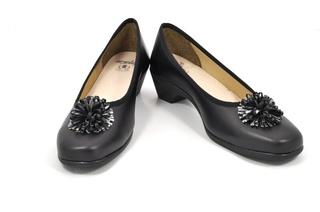 Pantofi negri Amelie, din piele naturala