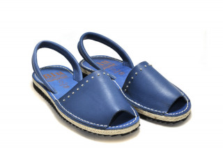 Sandale Avarca Abigail navy, piele naturala