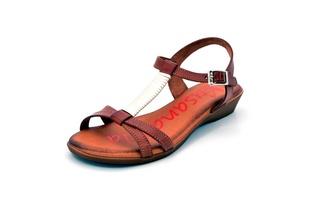Sandale maro Xusandalia din piele naturala DS17