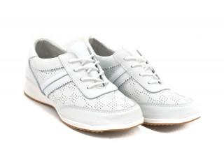 Pantofi albi din piele naturala Lorena