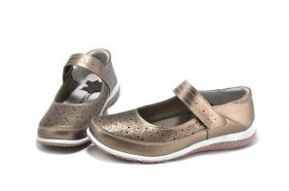 Pantofi casual auriu bronz din piele naturala Evita