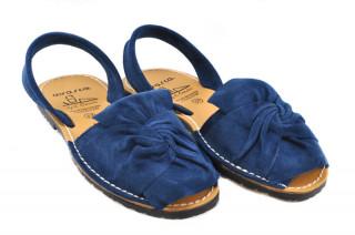 Sandale Avarca Gia albastre, piele naturala