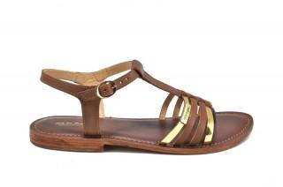 Sandale maro piele naturala Tina