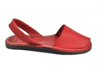 Sandale rosii Avarca Gail, din piele naturala