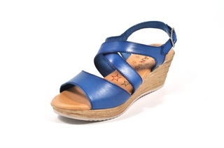 Sandale albastre Tristan, din piele naturala