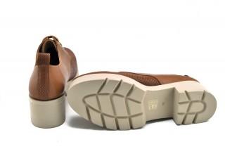 Pantofi maro din piele naturala Jean